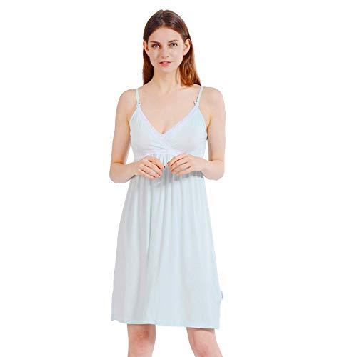 f9ed19092 8. i-baby Camisón Lactancia Ropa de Premama Maternidad Vestido Pijamas  Mujer Embarazada Amamantando Verano 2 en 1 (Verde Claro