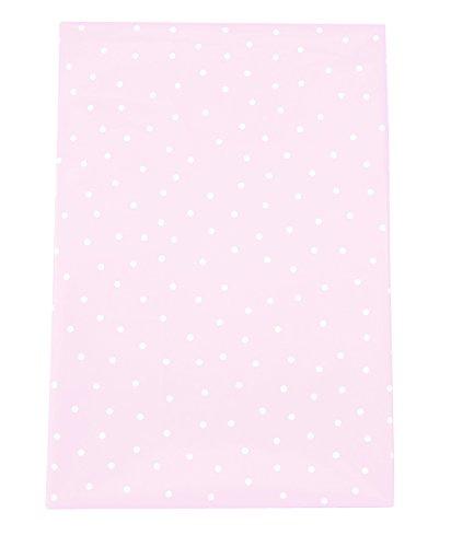 JaBaDaBaDo Dünne Party Tischdecke aus Plastik in rosa mit weißen Pünktchen