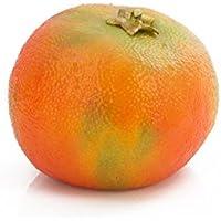 Set 3 x Mandarina artificial, naranja, 4,5 cm, Ø 6,5 cm - 3 unidades de Fruta decorativa / Fruto de plástico - artplants