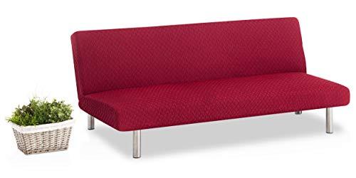 Bartali Funda de sofá Clic-clac elástica Olivia - Color rojo -Tamaño estandar...