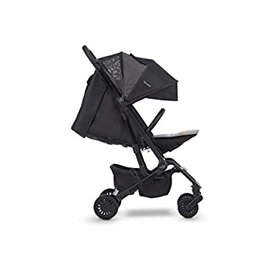 Micralite ProFold Compact Lightweight Carbon Stroller. Suitable From Birth - 15kg. One Handed Fold, Cabin Approved, Four Wheel Suspension