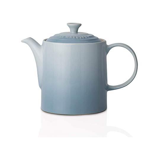 Le Creuset Steinzeug Große Teekanne hoch, 1,3 L, meeresblau - Tee-kanne Große Keramik