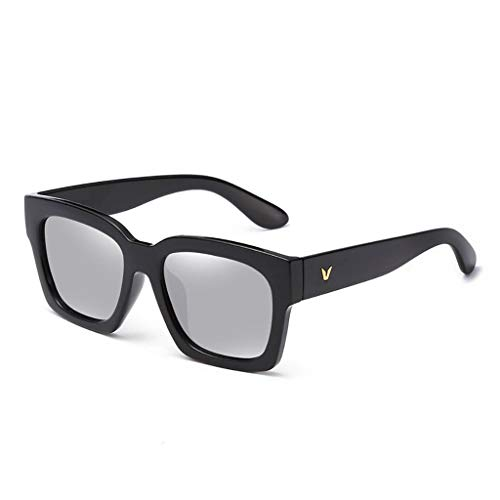 KISlink Sonnenbrille Herren Sonnenbrille New Tide Driving Polarized Round Face Langes Gesicht Persönlichkeit Brille Sonnenbrille Herren Brillen (Farbe: C)