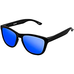 HAWKERS Gafas de sol, Negro/Azul, One Size Unisex-Adult