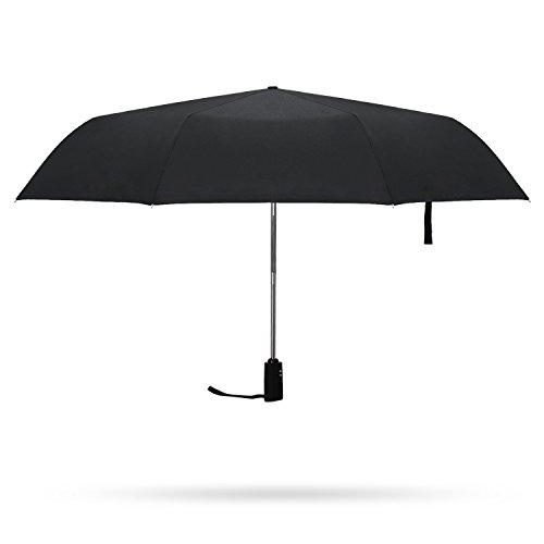 Paraguas-Plegable-AutomticoMaisonKlee-Impermeable-y-Resistente-al-Viento-Elegante-para-Viaje-con-21-InchColor-Negro