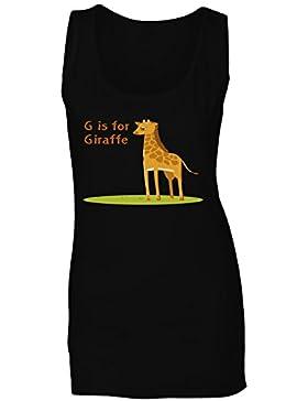 Nueva G Para La Jirafa Divertida camiseta sin mangas mujer l382ft