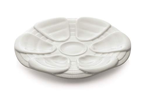 Austernteller für 6 Austern - Porzellan