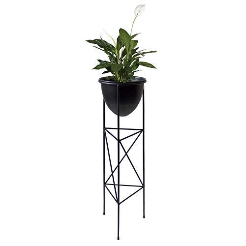 Blumenständer, Metall, Ø20xH70cm, Schwarz - Blumenkasten Pflanzenkasten Hochbeet Pflanzkasten