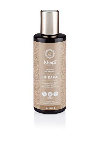 khadi Ayurvedisches Shampoo Shikakai 210ml I natürliches Haarshampoo für jedes Haar und jeden Tag I 100% pflanzlich -