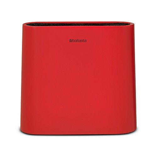Brabantia Linea Tasty Colours Ceppo Coltelli Universale, Senza Coltelli, Plastica, Rosso