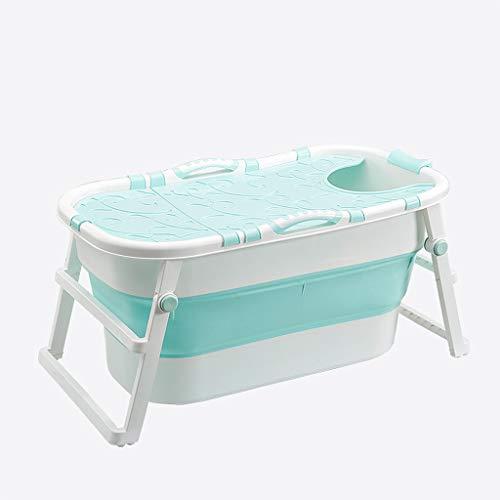 Badewannen Erwachsene Faltbare Isolierungs-Abdeckung, freistehende faltende tränkende Wanne, die für Erwachsene und Kinder, Klimababy-Swimmingpool verdickt (Farbe : Blau)