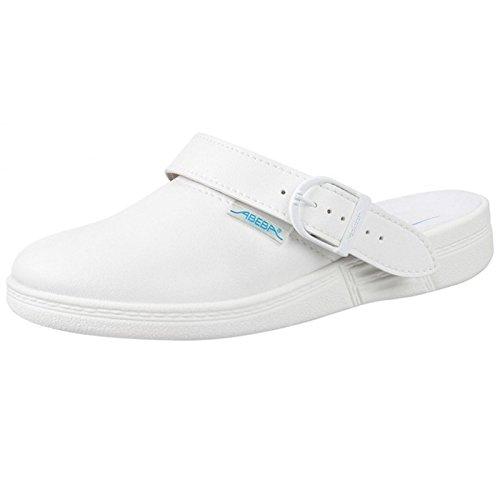 Abeba, Pantofole unisex adulto Bianco