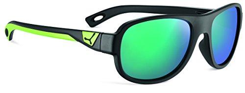 Cébé Kinder Zac Sonnenbrille, Matt Black Lime, 5-7 anni (Green Lime Sonnenbrille)