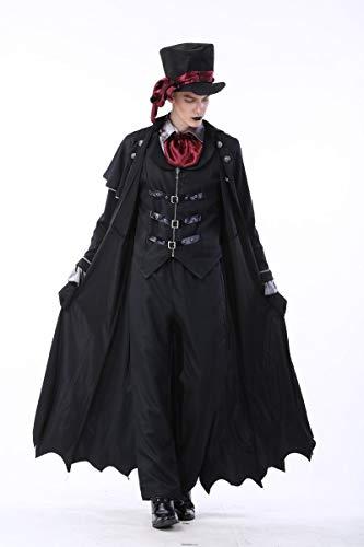 AWSAYS Halloween-KostüM Vampir DäMon MäNnlich Gentleman KostüM Nachtclub Paar Spielen Kleidung MäNner Und Frauen Kleidung (Sexy Männlichen Vampir Kostüm)