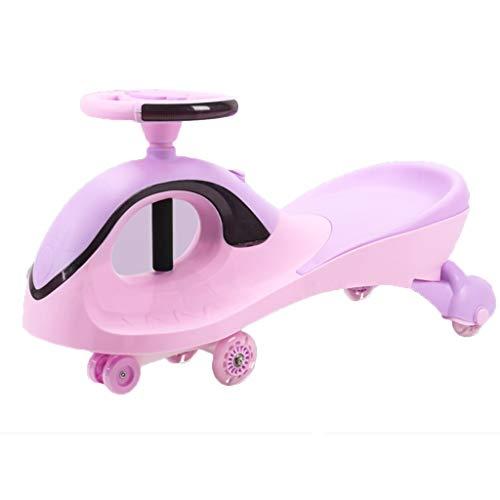 Twist 3 Licht (XXY Kinder Spielzeugauto Silent Twist Auto Roller Magnetische Flash-Rad Mit Musik Lichter Last Tragen 100 kg 1-3 Jahre Alt Roller Geschenk (Color : Purple, Size : 83 * 45 * 30CM))