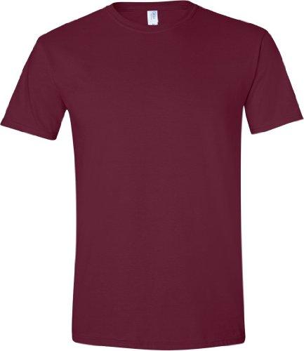 Gildan Soft-Style Herren T-Shirt, Kurzarm, Rundhalsausschnitt Maroon