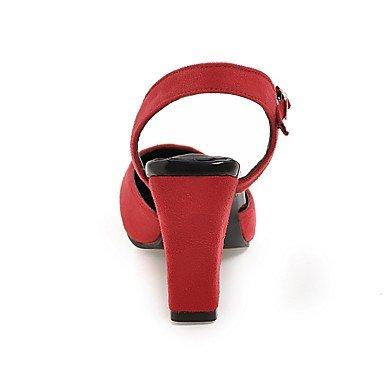 LvYuan Da donna-Sandali-Ufficio e lavoro Formale Casual-Altro-Quadrato-Felpato-Nero Verde Rosso Grigio Black