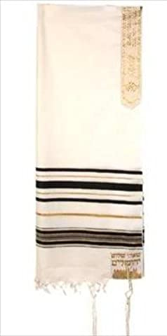 Holy Land Gifts 4765 Tallit 12 Tribes Prayer Shawl Acrylic Black 50 In.