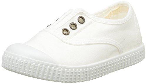 Victoria - Inglesa Lona Tintada Punt., Sneaker Unisex – Bambini Bianco (20 Bianco)