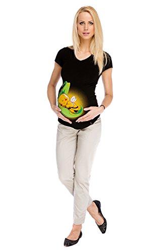 Mutterschafts Hose Umstands Hose Liv Büro Arbeit Beige M (medium) Umstandsmode von MY TUMMY ®©™