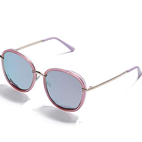 ZXW Sonnenbrillen- Sonnenbrillen Damenmode rundes Gesicht Sonnenbrillen Neue Anti-UV-Brillen für Frauen (Farbe : Rose rot, größe : 14.8x13.5x5.5cm)