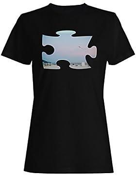 Puzzle playa imagen sueño kite regalo camiseta de las mujeres d914f