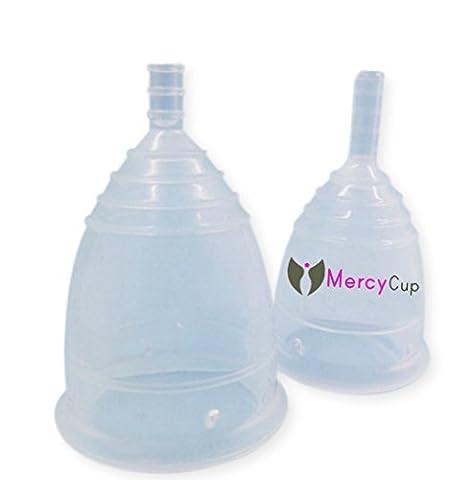 Die Mercy Menstrual Cup - Soft Medizinische Silikon, Einfache Verwendung Menstruation, Save £, Save die Umwelt, für vor oder nach der Geburt (Large (25 + OR nach der Geburt))