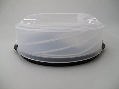 TUPPERWARE Exclusiv Tortentwist schwarz TWIST Tortenbehälter Kuchenform Torten