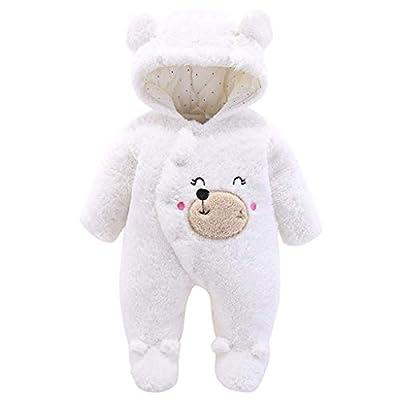Bebé Mono Invierno Mameluco Vellón Body Recién nacido Peleles Traje de Nieve Pijamas Espesar Traje de Dormir