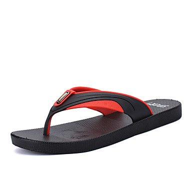 Slippers & amp da uomo;Luce Estate Suole PU casual unito spaccato chiaro Verde Rosso Arancione Walking sandali US7.5 / EU39 / UK6.5 / CN40