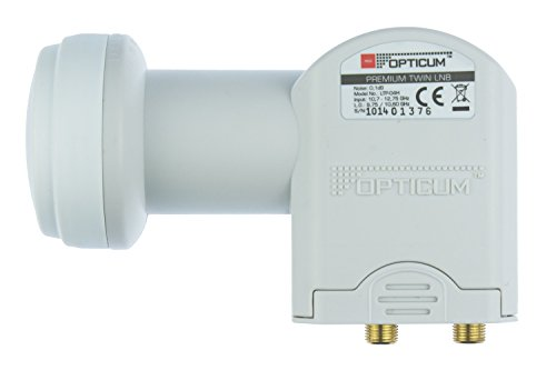 Opticum Twin LNB - LTP-04H - vergoldete Kontakte (Full HD, 3D, Feed-Durchmesser 40 mm)