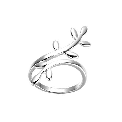grande sconto design professionale buono sconto LUFA Leaf donne di disegno ramo anello argentate partito di nozze anelli  aperti