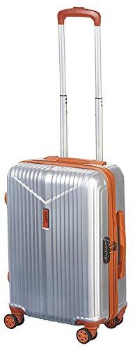 Pure - Hartschalen-Koffer Karl | Kleiner Trolley mit 4 Rollen und TSA-Schloss in Größe S | Reisekoffer in Handgepäck-Größe | 39 Liter | Silber