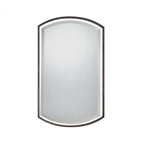Quoizel Qr1419Reflections 88,9x 53,3cm rectangulaire Miroir décoratif,, Cadre en métal, nickel brossé, Taille unique