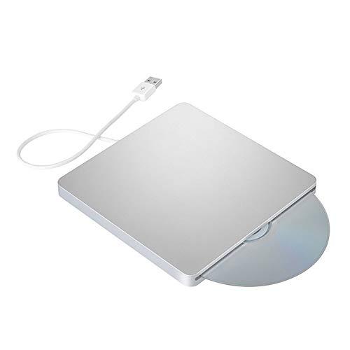 ZYJ Tragbarer CD-Player, Ultra-Thin externer Steckplatz USB2.0 Externe DVD-Brenner optisches Laufwerk für Notebook Desktop Netbook Computer
