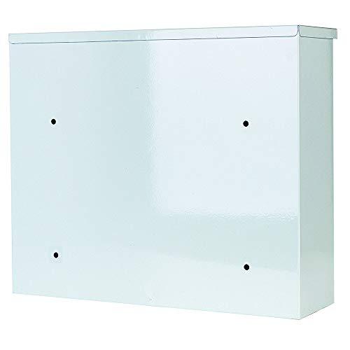 Briefkasten Wandbriefkasten Weiß extra Lackschicht gegen Rost Mailbox Briefkastenanlage Postkasten Stahl Weiß 30x36x10 Montagematerial und 2 Schlüssel inclusive (Weiß 36x30cm) - 3