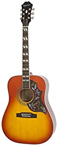 Epiphone Hummingbird Pro Solid Top Acoustic/Electric Guitar, Spruce and Mahogany Body, Rosewood Fingerboard