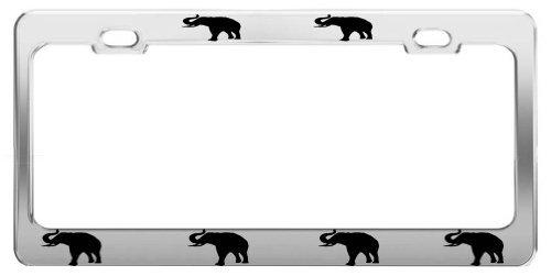 Lionkin8 Elefant Animal Bilder Funny Chrom Nummernschild Rahmen Tag aus Halterung