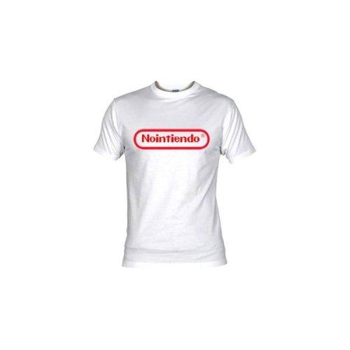 Camiseta nintendo (humor) (Talla: Talla XL Unisex Ancho/Largo [58cm/76