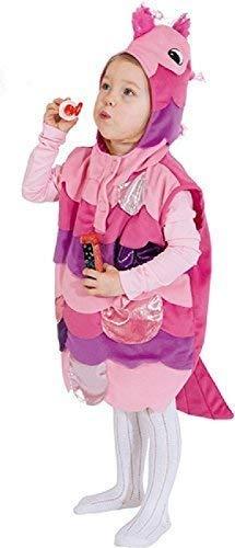 Dem Kleinkind Für Unter Kostüm Meer - Mädchen Kleinkind Süss Rosa Fisch mit Kapuze Überwurf Tier unter dem Meer Welttag des Buches-Tage-Woche Karneval Kostüm Kleid Outfit 3-4 Jahre