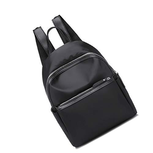 Jinzuke Nylon-Rucksack Solid Color Stitching-Schule-Schulter-Beutel-Hand Frauen Mädchen Daypack Rucksack -