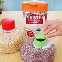 Rian's Online 3Pcs/set Reusable Silicone Creative Fresh Magic Button Food Sealing Button Facilitate Food Preservation Food Bag Clip Food Clamps Plastic Bags Magic Cap
