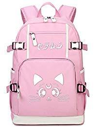 YOYOSHome Luminous Japanese Anime Cosplay Laptop Tasche Bookbag College Bag Rucksack Schultasche Sailor (Sailor Moon Artemis Kostüm)