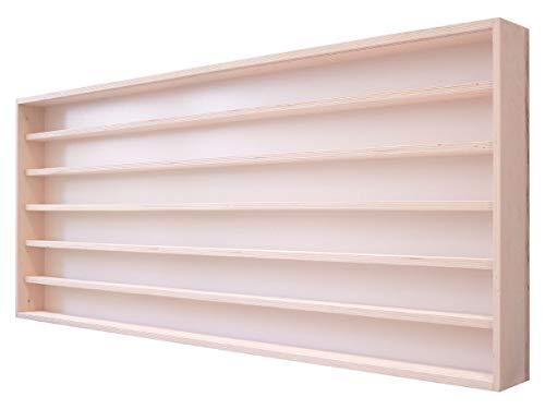 Alsino Setzkasten H0 V130.6A Vitrine Wandregal Holzregal Hängevitrine 130 x 58 x 8,5-6 Fächer mit Nuten & Plexiglasscheiben