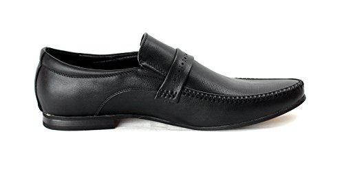 Hommes Décontracté Chaussures Habillées Élégant Office À Enfiler Travail Soirée Style Noir