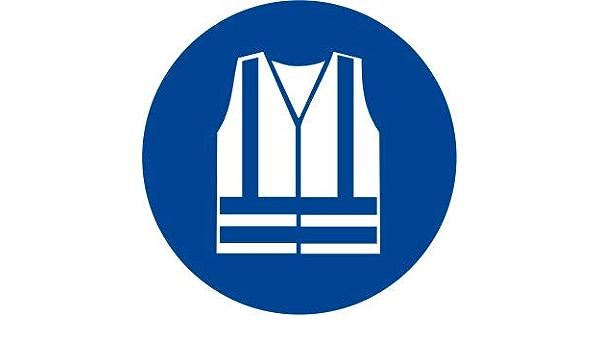 100x100mm Etichetta adesiva pittogramma segnale di obbligoObbligatorio indossare il grembiule protettivo OR025-10 per confezione