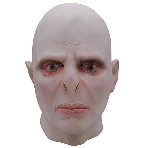 Kostüm Halloween Voldemort - Voldemort Maske, Scary Kostüm Spielt Maskerade Helm, Halloween, Horror Perücke Film Und Fernsehen Arbeit Make-Up Requisiten, Horror Cosplay Latex Maske
