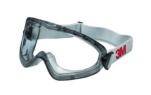 3M 2890SC Vollsichtschutzbrille für Elektrowerkzeug- und Farbspritzarbeiten, Schutz gegen Spritzer, Antibeschlagbeschichtung, klar