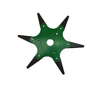 Boyang Cabezal del cortacésped, Disco Desbrozadora de 6 Dientes Cuchilla, Cuchillas para Accesorios prácticos para máquinas herbicidas, Corte de 360 ° sin ángulo Muerto Verde