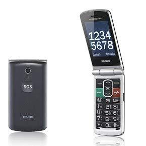 Brondi Amico N°UNO Telefono Cellulare, tasto SOS, Titanio